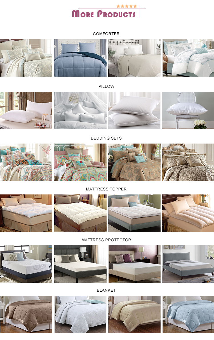 Hot Sale Wholesale China Supplier Sleep Well Mattress Pad Topper