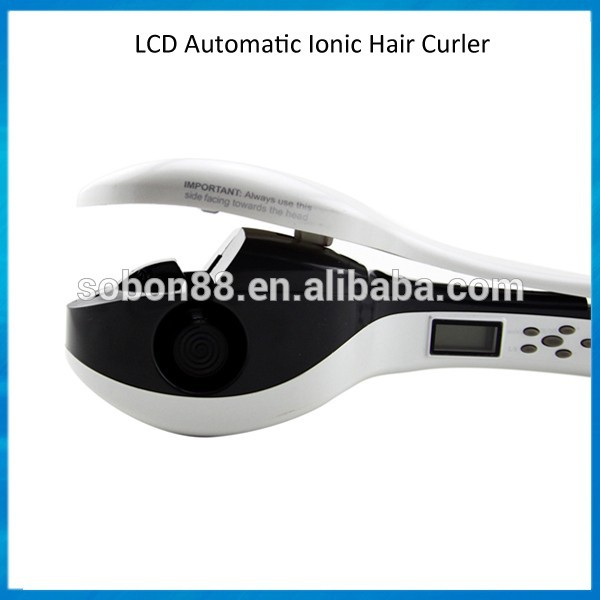 2015 Professional magic rotating curling iron salon hair curler