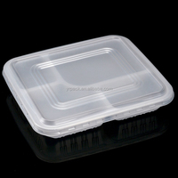 food grade wholesale clear hard plastic 4 compartment container boxes