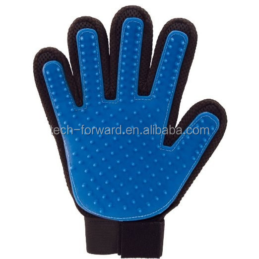 Five Finger ture Pet Grooming Gloves / Silicone Massage Hair Removal Pet Dog Cat touch Cleaning Brush / Magic Glove