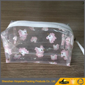 wholesale fashion transparent clear travel pvc cosmetic stand up bag