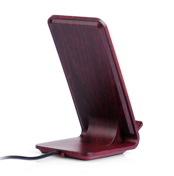 Mobile phone Wooden fast qi wireless charger stand
