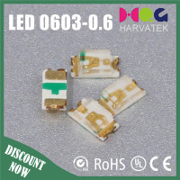 High quality low power 1.6*.8*0.6mm 75mw blue 0603 smd led diode 1608