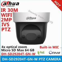 Dahua ip camera DH-SD29204T-GN-W 2Mp Network Mini Speed Dome 4x optical zoom PTZ built-in MIC WIFI