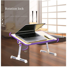 Angle Height Adjustable Foldable Lap desks Monitor Riser Sturdy Monitor Stand Desktop Laptop Table for Bed Computer