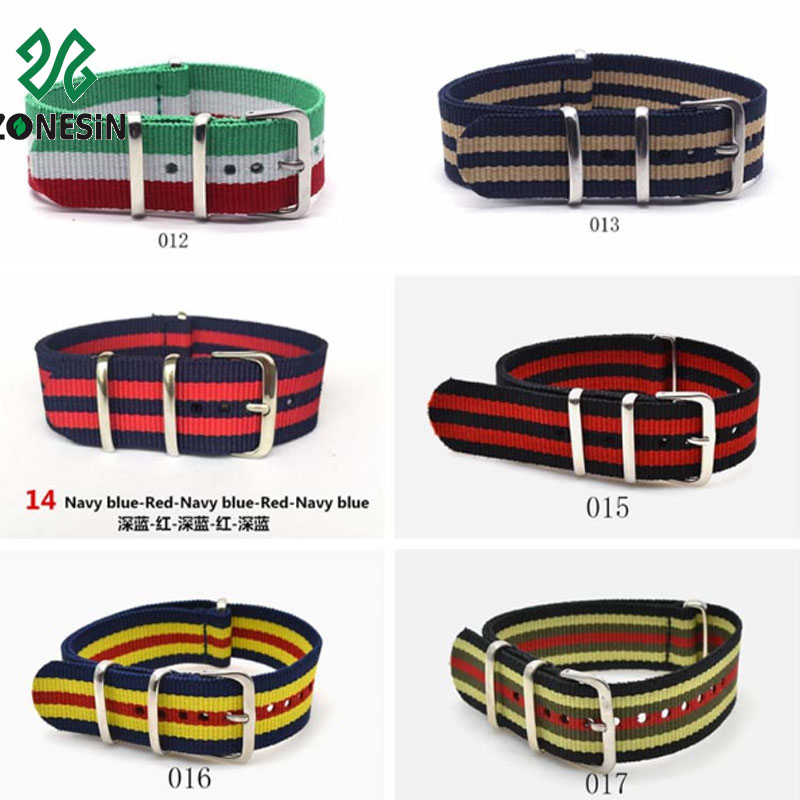 Hot Sale Fashion High Quality Nylon Watchband Watch Belts 20mm Watch Strap Band for Lady Man Woman Boys Girls