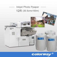 rc glossy photo paper for minilab with watermark A5 A3 A4 A6