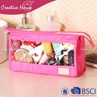 Cosmetic Bags & Cases Polyester 230D + sponge / water-proof Nylon 420D PVC clear travel cosmetic makeup bag set