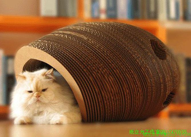 Custom Cute Design Indoor Cardboard Cat House Buy Cat