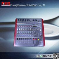 Electrical Equipment High Quality Powered dj audio mixer