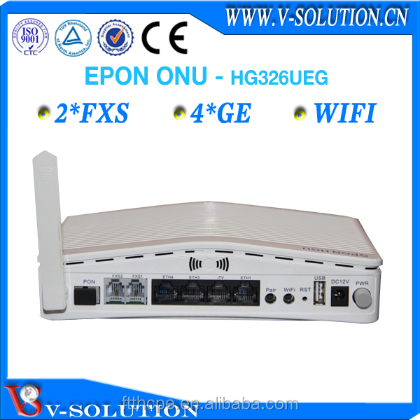Full compatible with BDCOM OLT P3310 2FXS 4*1000M FTTH network 3g WiFi EPON ONU router