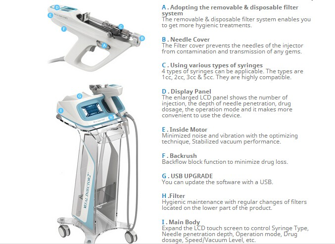 MY-E10 Upgrated Vital Injector II 2017 latest 2nd generation vital injector 2 beauty machine