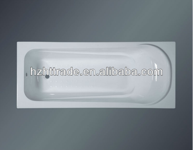 1700mm bathroom sanitary ware acrylic simple drop in water bath