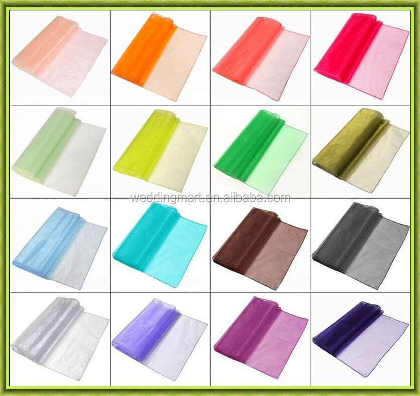 Cheap organza table runners for rectangle tables 30*275 cm top selling