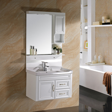 Cheap Wall Mounting Hotel PVC Luxury Bathroom Cabinet