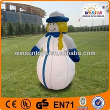 new style animated pvc small inflatable snowman