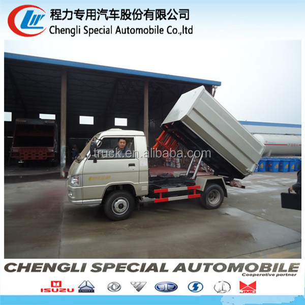 hot sale mini Sealed garbage truck waste container truck for sale
