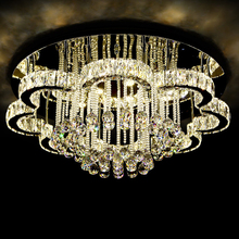 Modern Crystal ball lights flower shape k9 crystal chandelier ceiling lights for dinning rooom
