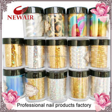 Metallic gold and silver nail foils decorations