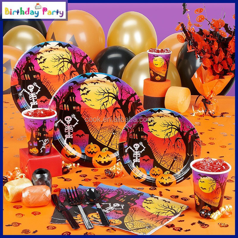 Halloween theme party decorations supplies wholesale