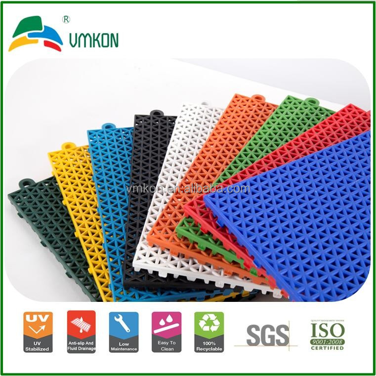 vmkon outdoor tennis courts hollow hard plastic modular assembly flooring