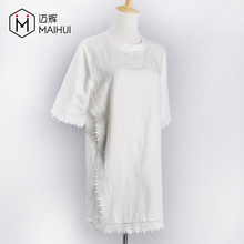 Fashion Summer Ladies White Blouse Lace Dress Women New Model Casual Clothes