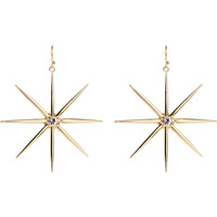 Zooying 2019 newest trendy glass diamond star shaped metal plated earring