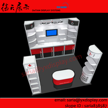china booth trade show 10x10 feet, cheap exhibition stand with free design in shanghai china