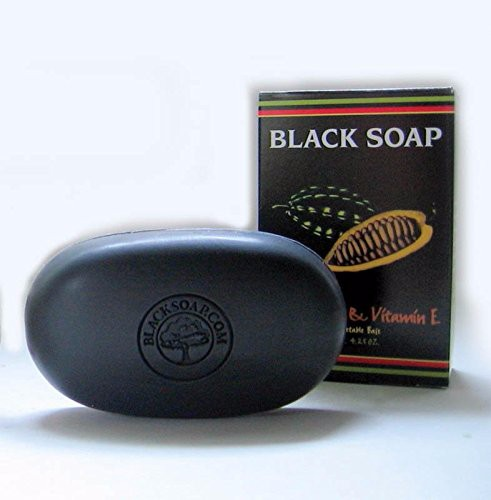 Amazon OEM Facotyr African Black Soap Cocoa Butter with Vitamin E