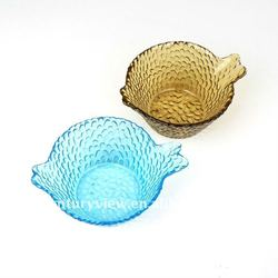 antique glass fruit bowls colored