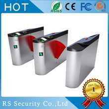 biometric door access electronic sliding turnstile gate security flap barrier