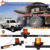 1.2m bracket adjustable strobe flashing amber rotating beacon multi-function warning Mine truck used safety led signal lightbar