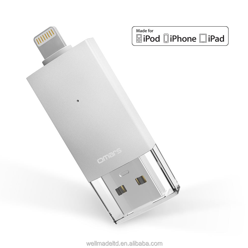 [MFi certified] Omars 32Gb Wholesale iFlash Drive OTG USB Flash Drive for iPhone ipad with encryption