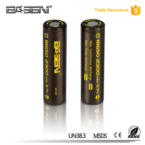 Basen 3.7v 2300mah 18650 li-ion rechargeable battery hades mod mechanical mod big 18650 battery