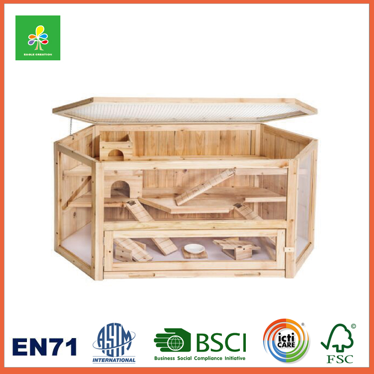 Gerbil Chalet Mice Hamster Cage, Hamster Wooden House