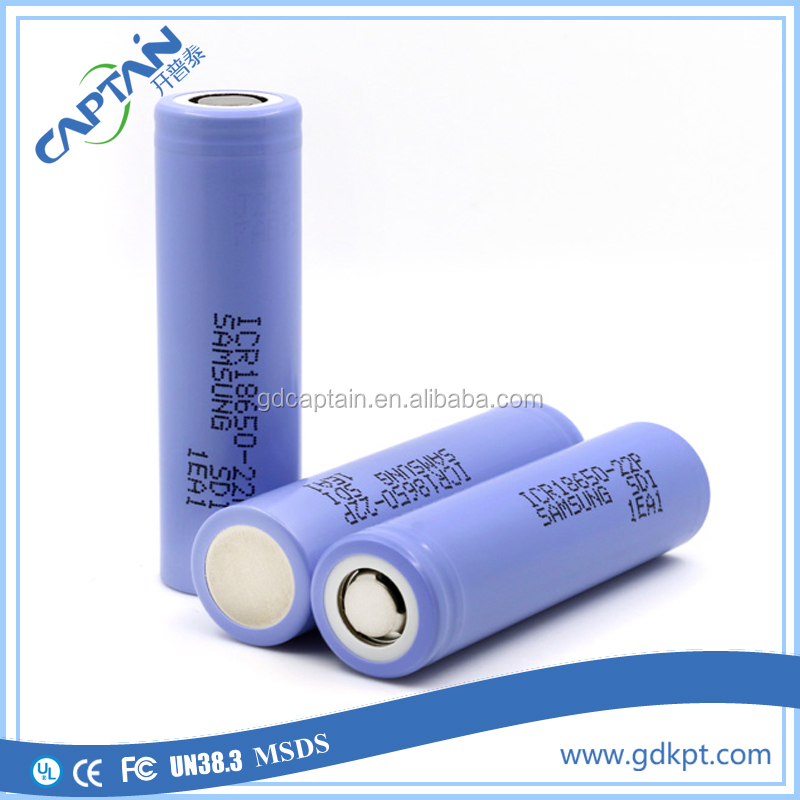 Original ICR18650-22P 18650 10amp 2200mah 10A high power the cheapest electronic cigarette battery