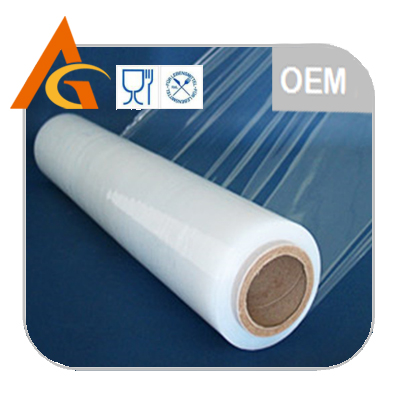 Grade A transparent pe plastic film wrap in color box