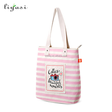 Custom One Shoulder Handle Canvas Tote 2017 Fashion Stylish College Bag Canvas Bag For Girls