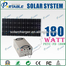 High quality factory supply 180W portable solar air conditioner with 500W output directly