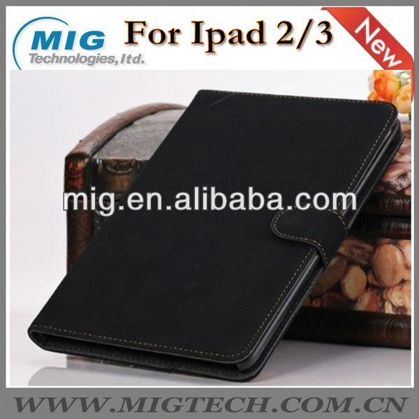 Restore style book leather case for ipad2 3 4, for ipad 4 case