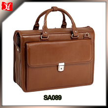 Newest 15 inch leather laptop bag carbon fiber mens leather briefcase for business men