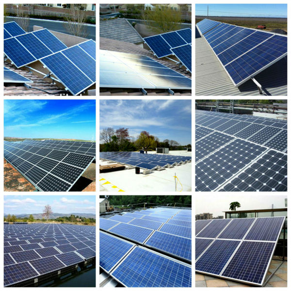 HYE adjustable roof mount solar panel system 11kw 11000w solar grid-tied system