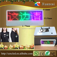 Programmable LED scrolling display screen LED name tags LED name badge pixel 12x36 LED name tag