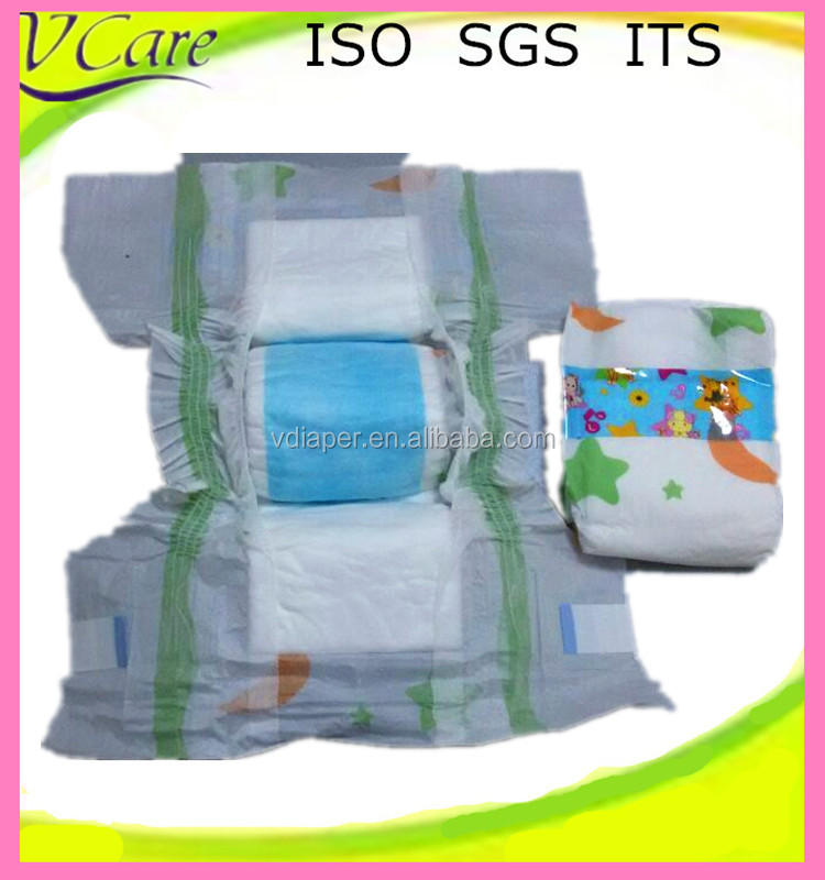 2016 Hot sell baby disposable diaper in bale made in China Quanzhou