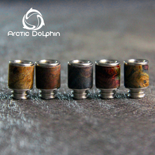 2017 popular colorful durable 510 resin/stabilized wood drip tip from Arctic Dolphin company