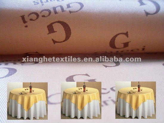 190T polyester taffeta printed fabric for tablecloth
