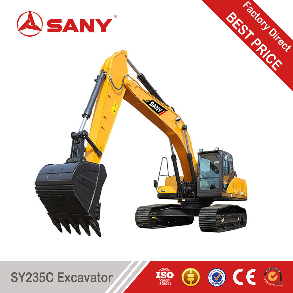 SANY SY235 23.5 Tons Fuel Economy King Crawler Excavator of rc Hydraulic Excavator for Sale with ISO Certification