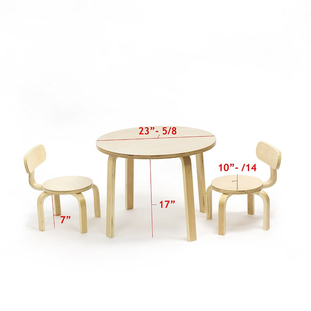 Children's Table with 2 Chairs Furniture Set For Use In Kids Play Room Kindergartens and Daycares