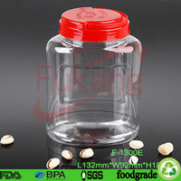 1300cc square large clear plastic red melon seed storage containers sale