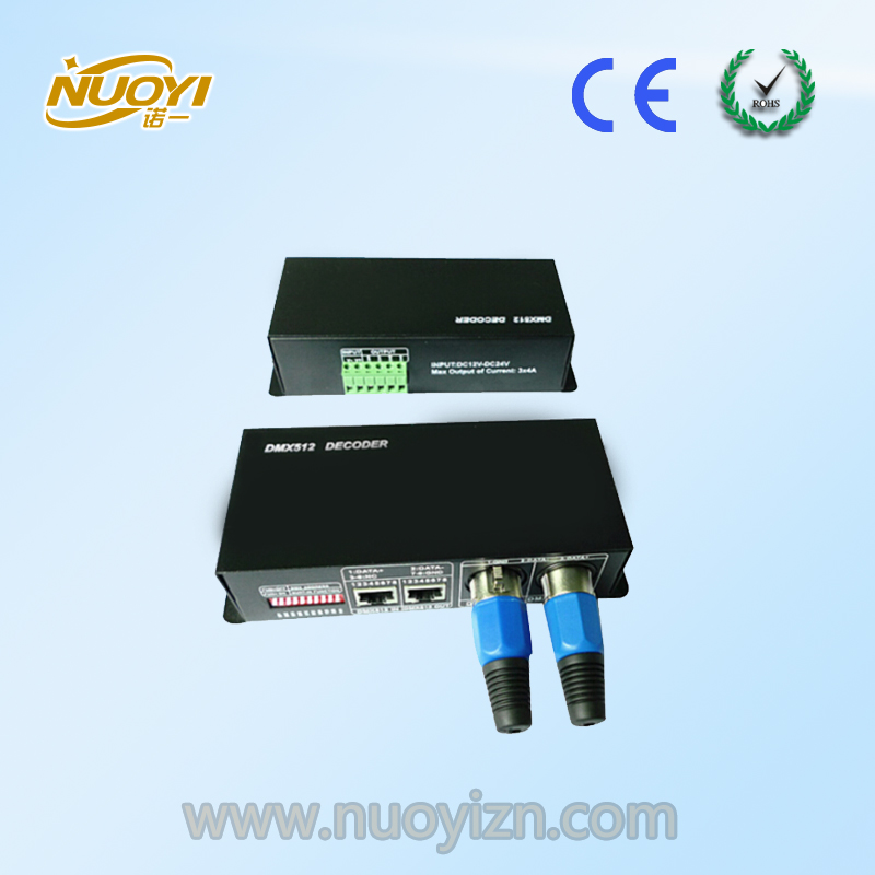 4A*3/4 channel RGB/RGBW dmx constant voltage decoder with display screen, DC12-24V input